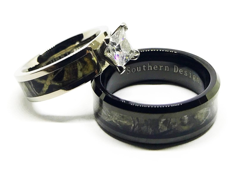 Where To Find Camo Wedding Rings for Him and Her